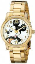 Disney Unisex férfi női W001844 Mickey Mouse analóg kijelző analóg Quartz arany színű óra karóra