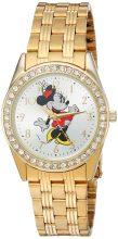 Disney Minnie Mouse női arany ötvözet Glitz óra karóra, arany nemesacél Karkötő, W002765