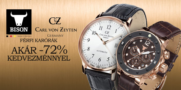 Carl von Zeyten karórák akár -72% kedvezménnyel! 34c5a5c7cd