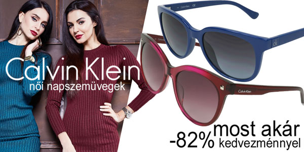 Calvin Klein napszemüvegek akár -82% kedvezménnyel!