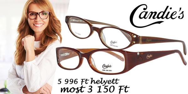 Candie's szemüvegkeretek most 3 150 Ft-ért!