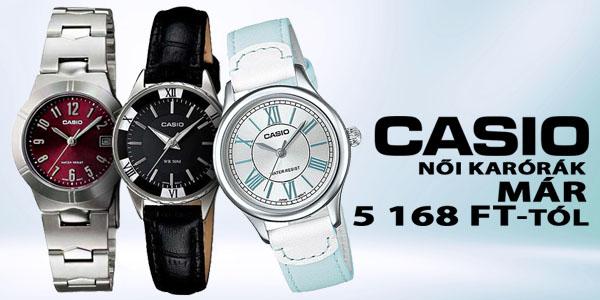 Casio karórák már 5 168 Ft-tól!