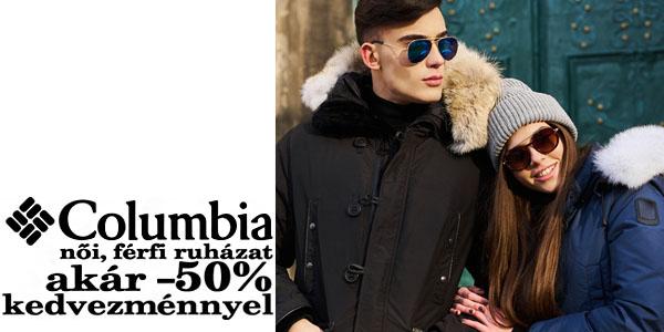 Columbia női és férfi ruházat akár -50% kedvezménnyel! c0088c9eef