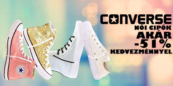 Converse cipők akár -51% kedvezménnyel!
