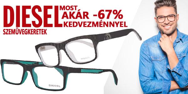 Diesel szemüvegkeretek akár -67% kedvezménnyel!