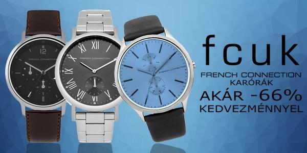 FCUK French Connection karórák akár -66% kedvezménnyel!