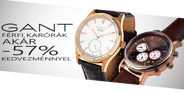 Gant karórák akár -57% kedvezménnyel!
