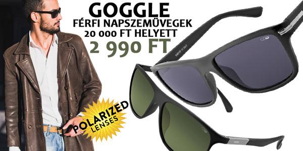 Goggle napszemüvegek -85% kedvezménnyel!