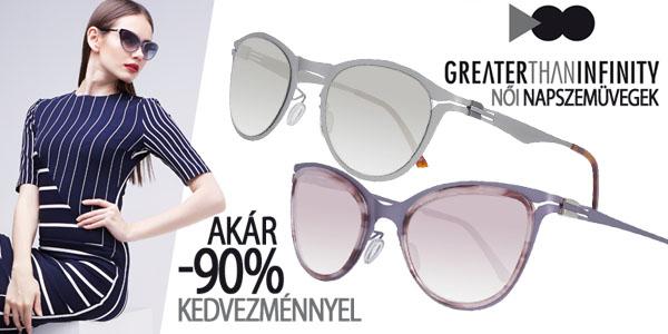Greater Than Infinity napszemüvegek akár -90% kedvezménnyel!