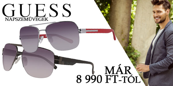 Guess napszemüvegek már 8 990 Ft-tól!