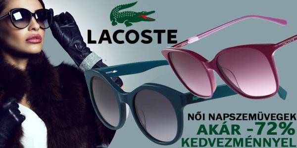 Lacoste női napszemüvegek akár -72% kedvezménnyel!