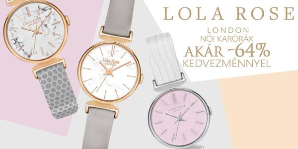 Lola Rose London karórák akár -64% kedvezménnyel!