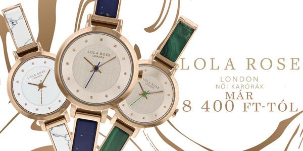 Lola Rose LONDON karórák 8 400 Ft-tól!