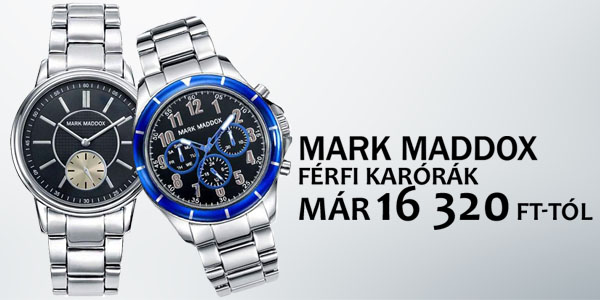 Mark Maddox karórák már 16 320 Ft-tól!