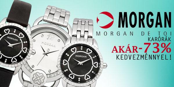 Morgan karórák akár -73% kedvezménnyel!