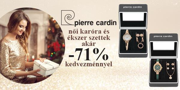 Pierre Cardin női karóra és ékszer szettek akár -71% kedvezménnyel!