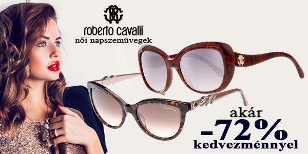 Roberto Cavalli női napszemüvegek akár -72% kedvezménnyel!