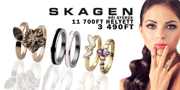 Skagen női gyűrűk 3 490 Ft-ért!