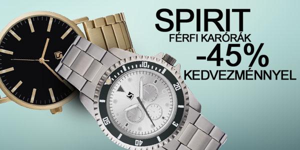 Spirit karórák -45% kedvezménnyel!
