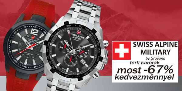 Swiss Alpine Military karórák most -67% kedvezménnyel! 0ca97e1a3f