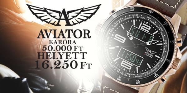 Aviator karórák már 16 250 Ft-tól!