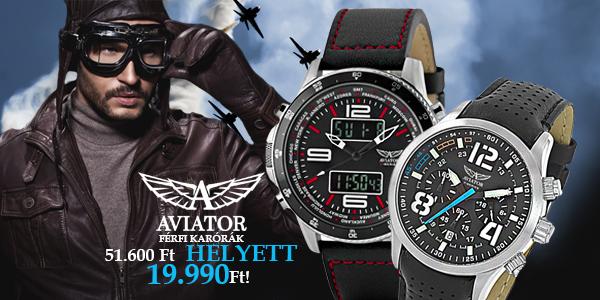 Aviator férfi karórák 19 990 Ft-ért!