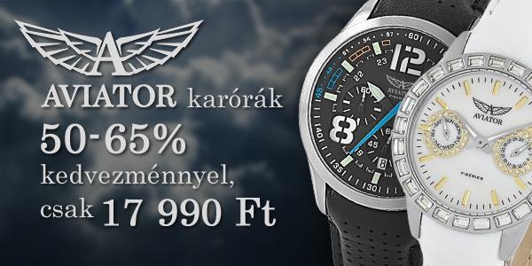 Aviator karórák 50% kedvezménnyel!