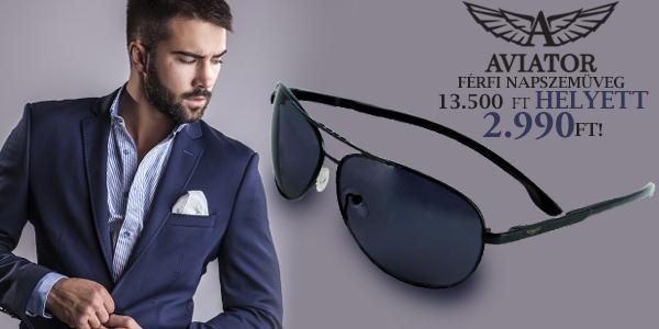 Aviator férfi napszemüveg 13500 Ft helyett 2 990 Ft-ért!