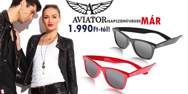 Aviator napszemüvegek már 1 990 Ft-tól