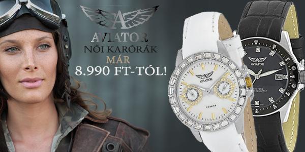 Aviator női karórák 8 990 Ft-tól!