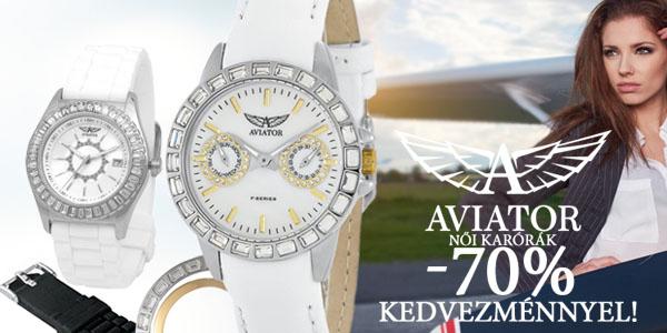 Aviator női karórák -70% kedvezménnyel!