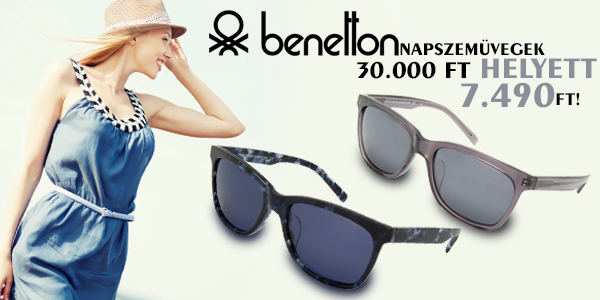 Benetton napszemüvegek 7 490 Ft-ért!