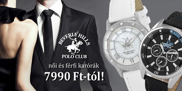 Elegáns Beverly Hills Polo Club női órák 7990 Ft-tól!