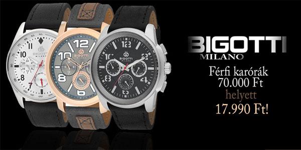 Bigotti Milano férfi karórák kedvezményesen