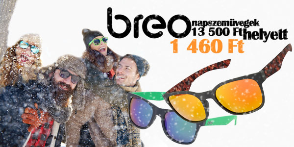Breo unisex napszemüvegek -89% kedvezménnyel!