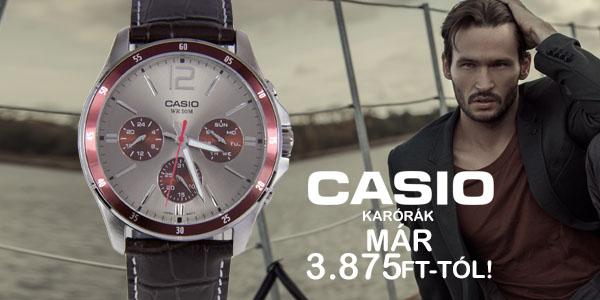 Casio karórák már 3 875 Ft-tól!