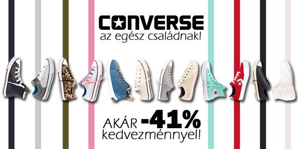 Converse cipők akár -41% kedvezménnyel!