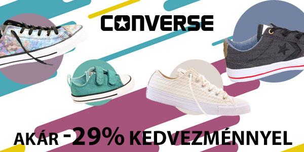 Converse cipők akár -29% kedvezménnyel!