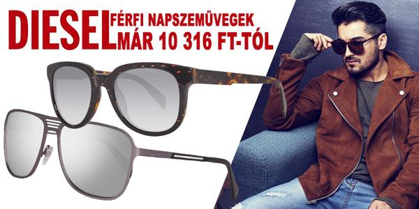 Diesel férfi napszemüvegek akár -70% kedvezménnyel!