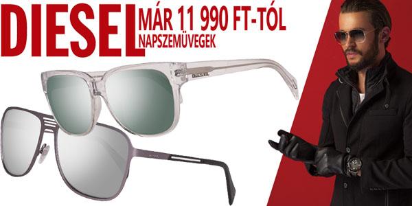 Diesel napszemüvegek már 11 990 Ft-tól!