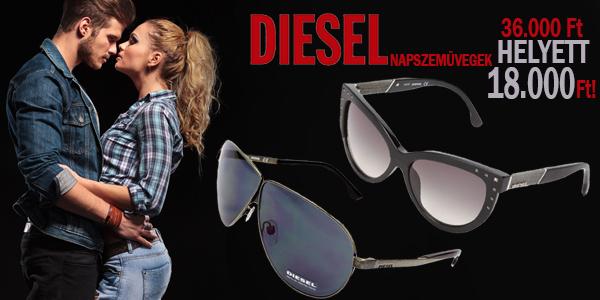 Diesel napszemüvegek 36 000 Ft helyett 18 000 Ft-ért!