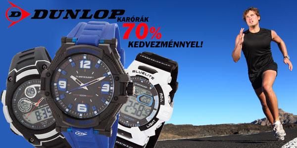 Dunlop karórák 70% kedvezménnyel!