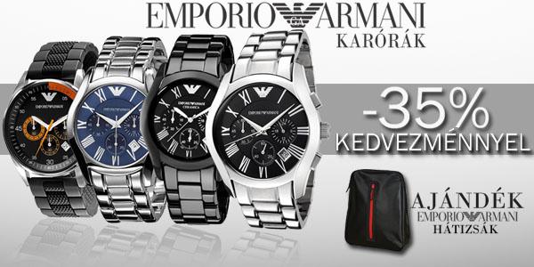 Emporio Armani karórák -35% kedvezménnyel!