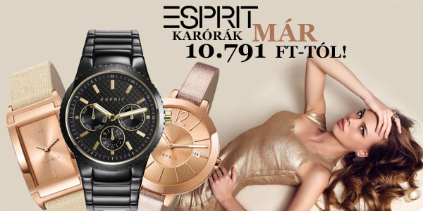 Esprit karórák már 10 791 Ft-tól!