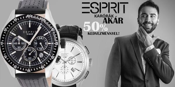 Esprit karórák akár 50% kedvezménnyel!