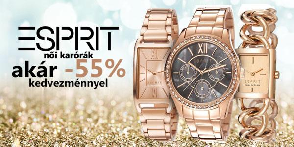 Esprit karórák akár -55% kedvezménnyel!