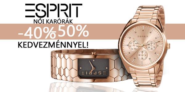 Esprit női karórák -40-50% kedvezménnyel!