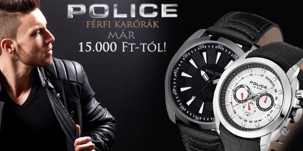 Police férfi karórák 15 000 Ft-tól!