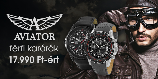 Férfi Aviator karórák 17.990 Ft-ért!