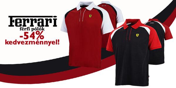 Ferrari pólók -54% kedvezménnyel